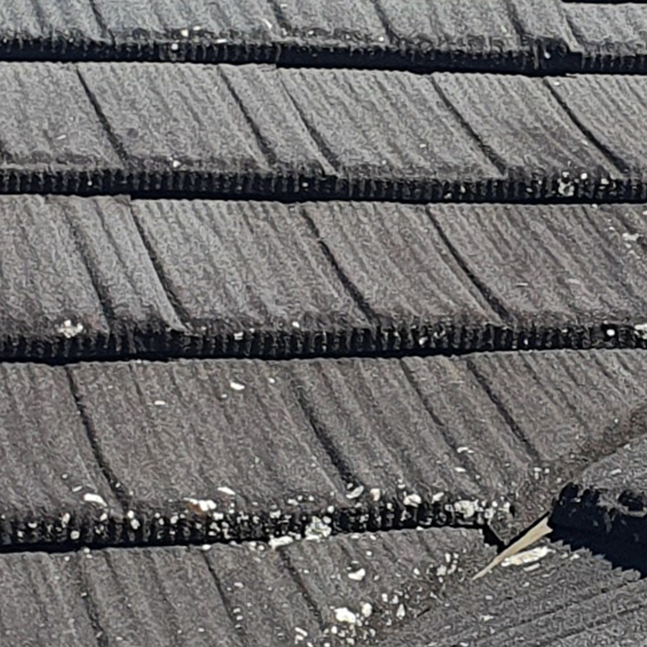 Roof Cleaning - Lichen and Algae on Decrabond tile roof