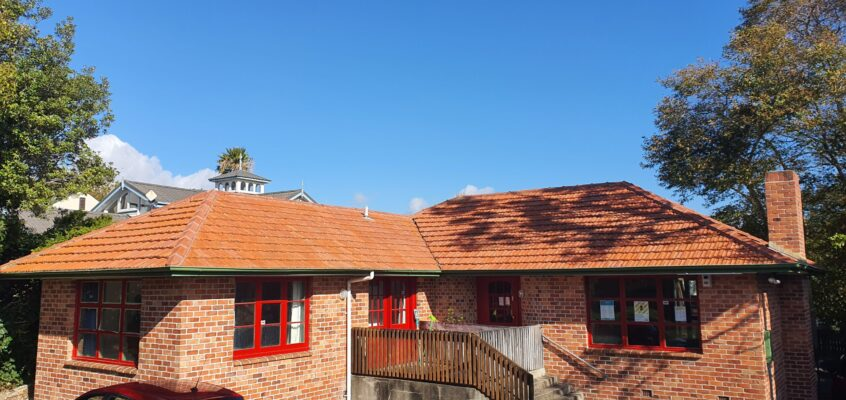 Roof Cleaning - Clay Tile Roof Cleaned with Bio-Shield