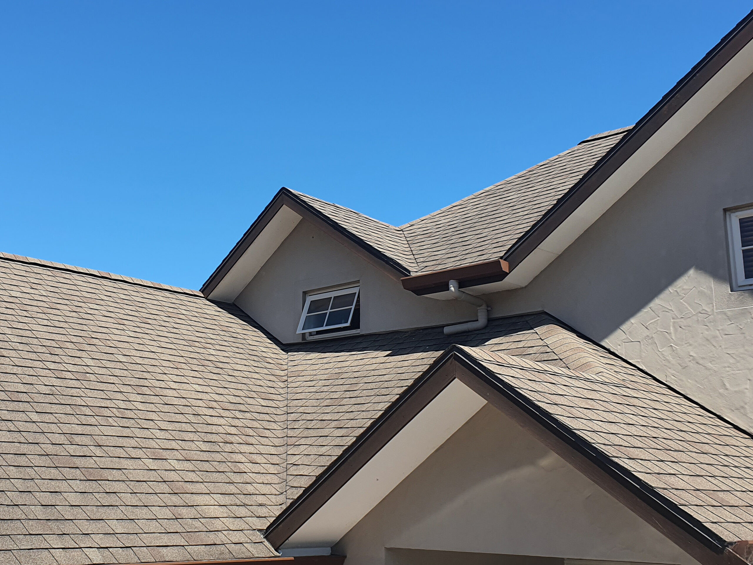 Roof Cleaning - Asphalt Shingle cleaned with Bio-Shield®